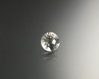 Natural White Topaz checkerboard cut loose stone 6mm round