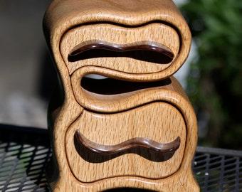 Jewelry Box of Black Oak and Black Walnut