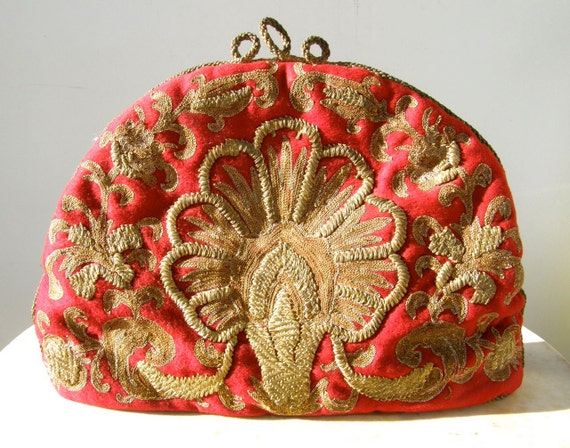 Magnificent VICTORIAN TEA COZY Cosy Gold Threaded Petit Point Embroidery 1800's