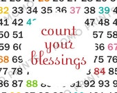 Count Your Blessings - Numbers Print