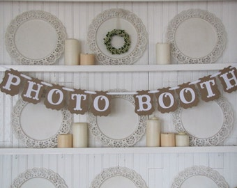 PHOTO BOOTH Banner, Photo Booth Sign, Party Decoration, Wedding Photo Booth, Photo Guest Book, Wedding Sign