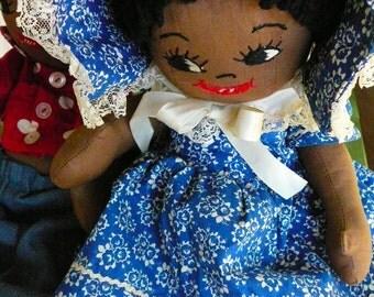 Vintage Folk Art/SALE/Black Baby Dolls/Handmade in Oregon/Grandma's Play Room