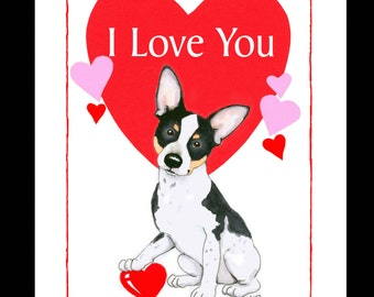 Rat Terrier Valentine Card