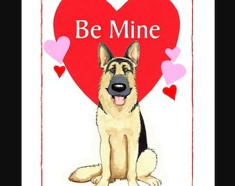 German Shepherd  Valentine Card