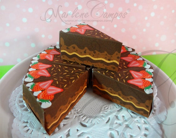 Chocolate Cake Images Download : Instant Download - Chocolate Slice Cake Box - Printable ...
