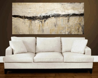 "painting  contemporary art  creme white brown jolina anthony 72""    original painting"