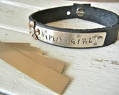 "NICKEL Silver Blank - 3/8"" x 2"" Metal Blank for Hand Stamped Jewelry- Use on Leather Cuffs or ID Bracelets- 22gauge - 6 Pack"