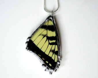 Eastern Tiger Swallowtail - Real Butterfly Wing Pendant