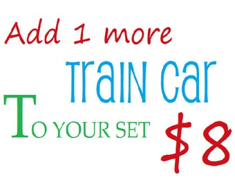 Add 1 More Train Car To Your Set