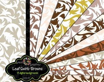 Digital Wedding Paper Swirl Pattern Digital Paper Printable Wedding Paper Flourish Paper Background - Instant Download