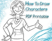 How To Draw Characters - Printable PDF Cute Cartoons - Girls Boys Childrens