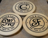 Personalized Hand Crafted Lazy Susan 10 in. Pine - Custom Wedding Gift
