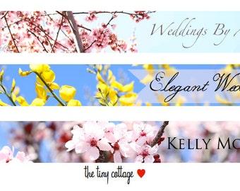 Choose Your Etsy Shop Banner - Floral Designs