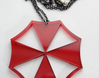 Resident Evil Umbrella Corporation Inspired Acrylic Necklace Mono Color