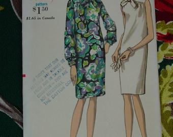 Vintage Pattern 1960's Vogue No.7143 Dress, Size 14