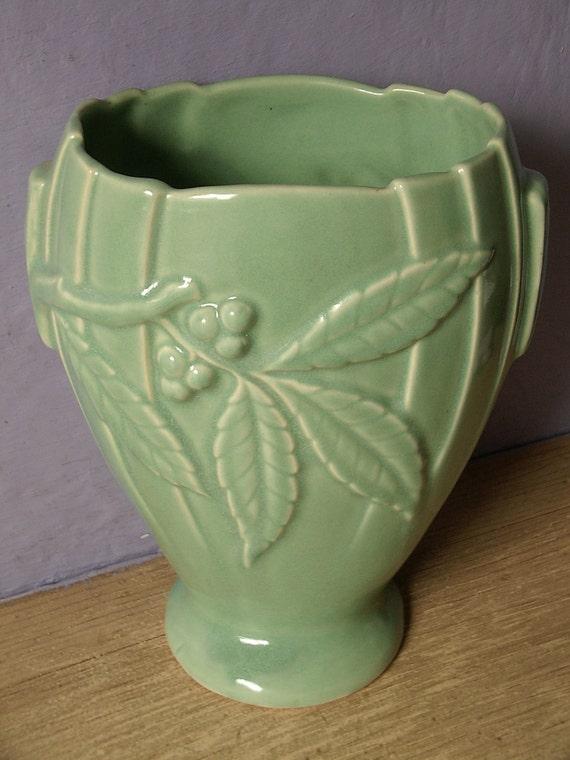 Antique Pottery Vase Vintage 1920 S Brush Mccoy By