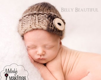 Natural Beanie Knitting Pattern - All Sizes Newborn through Child 3-10 Years Included - PDF Sale - Instant Digital Download