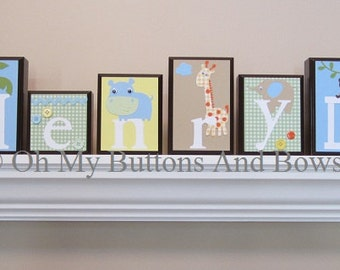 Name Blocks . Routed Edge . Nursery Name Blocks . Nursery Decor . Baby Name Blocks . Wood Name Blocks . Jungle Theme . Henry
