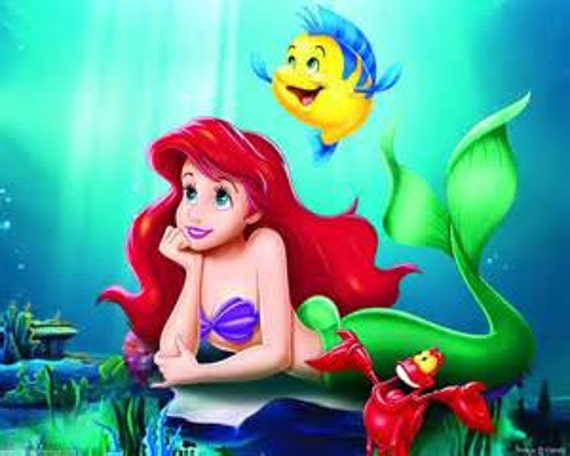 For Maria Custom Made Little Mermaid I Spy Quilt