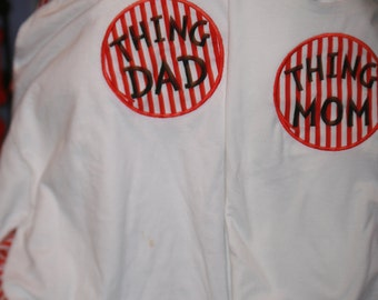 Thing Mom Thing Dad embroidered shirts