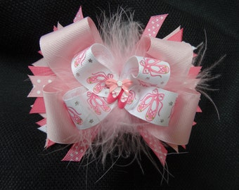 Ballerina bow, large 5 inch bow