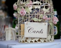 Handmade sign for wedding card birdcage / wedding post box / basket
