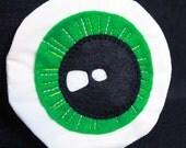 green eyeball coin pouch