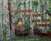 "Spring Woods Glicee Print 8"" x 10"""