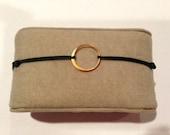Small Circle Charm Adjustable Bracelet