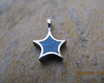 Star Shaped Turquoise Sterling Silver Pendant