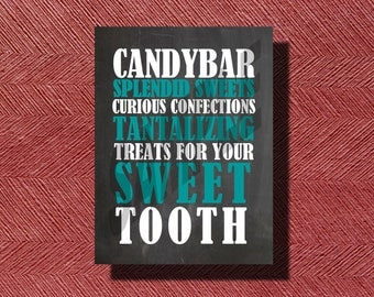 Fun Chalkboard Wedding Candy Bar Sign