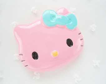 1pc - LL Pink Face Kitty Decoden Cabochon (48x40mm) HK10009
