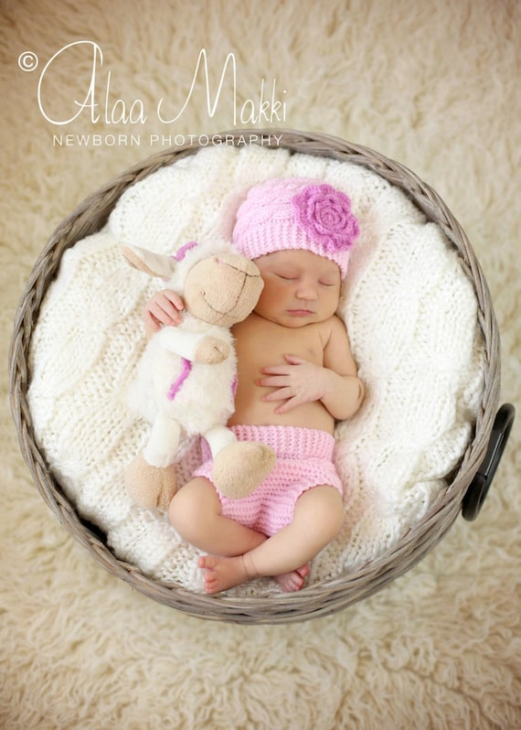 items similar to free shipping big flower newborn baby diaper cover and hat set perfect baby. Black Bedroom Furniture Sets. Home Design Ideas