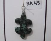 RA45 Autism Awareness Puzzle Piece Rock Pendant