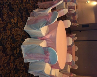 60 Inch Round Tablecloth Birthday Party Pink Tablecloth Wedding
