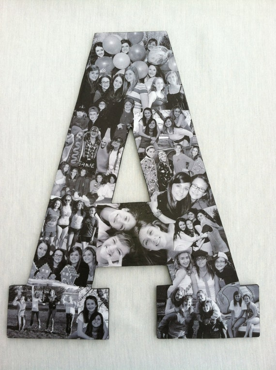 Custom Photo Collage Letter Girlfriend By Picketfencecrafts