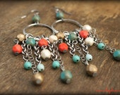 BEACH JEWELRY, Long Earrings, Rustic Mountain Girl or Beach Girl Earrings by Cheydrea