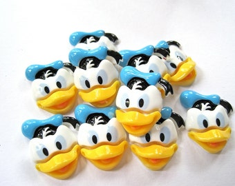 Duck Resin Cabochons Embellishment Lot of 2