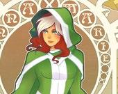 Rogue (Anna Marie) Art Noveau Print