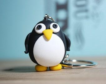 Tux - Linux Penguin Keychain