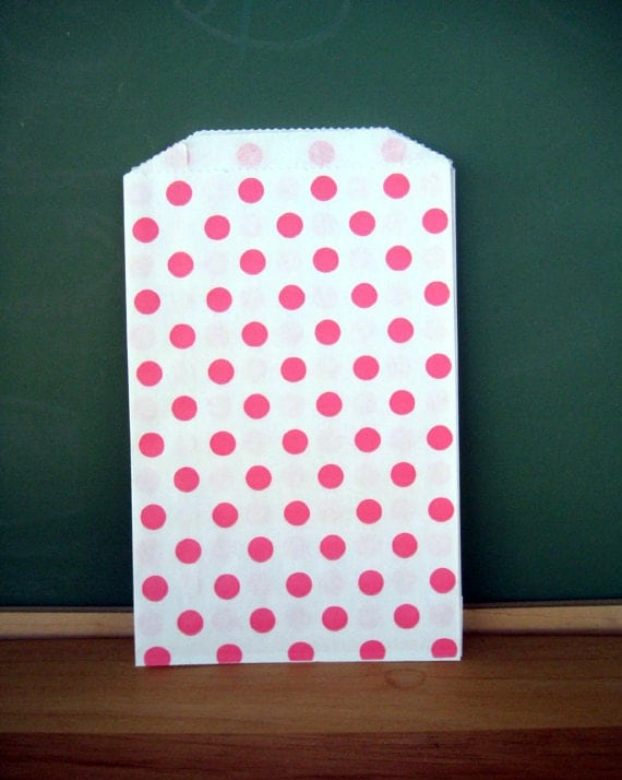 Pink dot paper favor bags 20 candy buffet party by for Sideboard x7