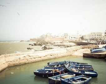 "Morocco Photography, Morocco art print, nautical photo, large travel photography - ""African Shores"""