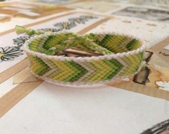 Green faded chevron friendship bracelet