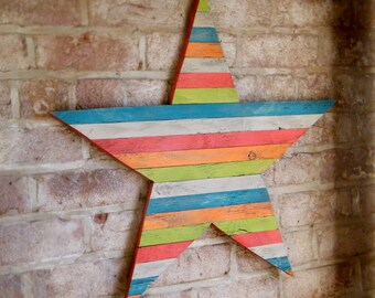 Barn Star Wood Wall Art Pallet Star Large Wooden Barnstar Wall Decor