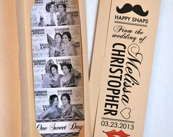 Lips and Mustache Photo booth Photo-Strip Picture Holders Party Favor Vintage Theme