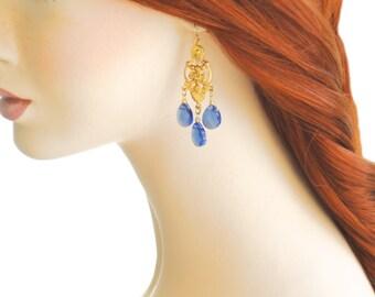 Gold Chandelier Earrings Marie Antoinette Earring Chandelier Crystal Earrings Teardrop Victorian Rococo Chandelier Earring Wedding Jewelry