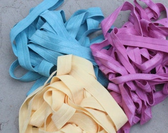 Fold over elastic  3   colors 2 of each color