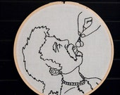 Frosty Boys Series: Cherry Licker Embroidered Wall Art