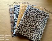 10 sheets, Animal Print Tissue Paper Sheets, Tiger, Zebra, Giraffe, Leopard, Animal Party, Zoo Party, Safari Party, Nursery Decor, DIY Poms