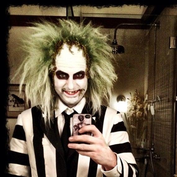 Beetlejuice-Halloween Costume- Mens Suit- Halloween- Costume- Adult Costume- Party-Wedding